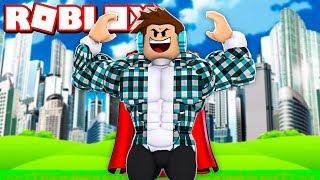 GANHEI O SUPER PODER DE VOAR NO ROBLOX !! - ( Roblox Super Power Training Simulator )