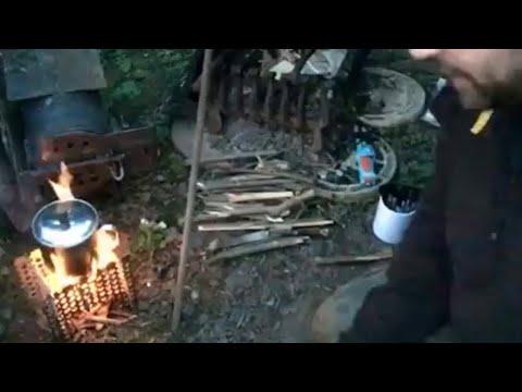 Easy DIY Camping/bushcraft folding wood stove