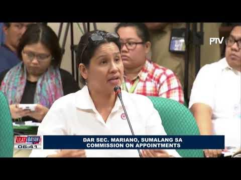 DAR Sec. Mariano, sumalang sa confirmation hearing ng Commission on Appointments