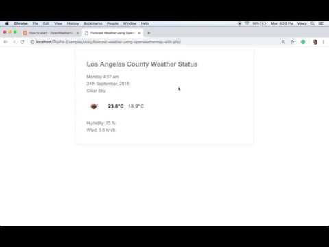 Forecast Weather Using OpenWeatherMap With PHP