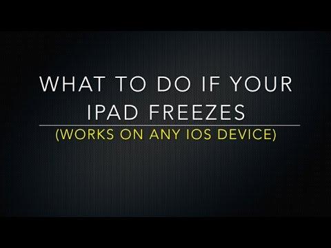 How To Fix Frozen Ipad