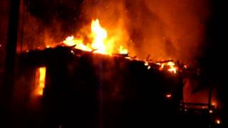 Ночной пожар в д.Слобода Полоцкого района.