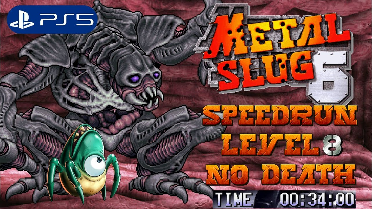 Metal Slug 6 Enhanced (PS5) - Speedrun Level-8 No Death (4K)