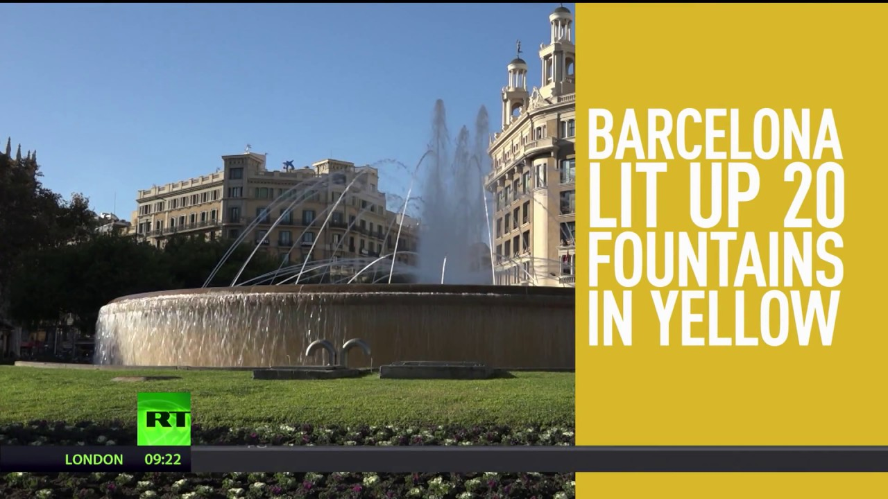 'Color of freedom': Yellow-lit fountains banned in Barcelona over link to Catalan separatism