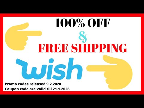 5x 100% OFF WIsh Promo Codes & Free Shipping [leaked coupons 2020]