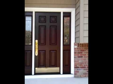 Fiberglass front entry door double sidelights wayne nj passaic county youtube - Double front entry doors with sidelights ...