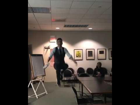 Tambourine Guy Crashes My Lecture at Rutgers University