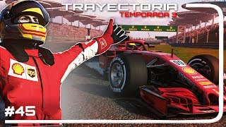 """MOTOR FERRARI vs MERCEDES"" - F1 2018 Codemasters MODO TRAYECTORIA | #45 CHINA (Temp.3)"
