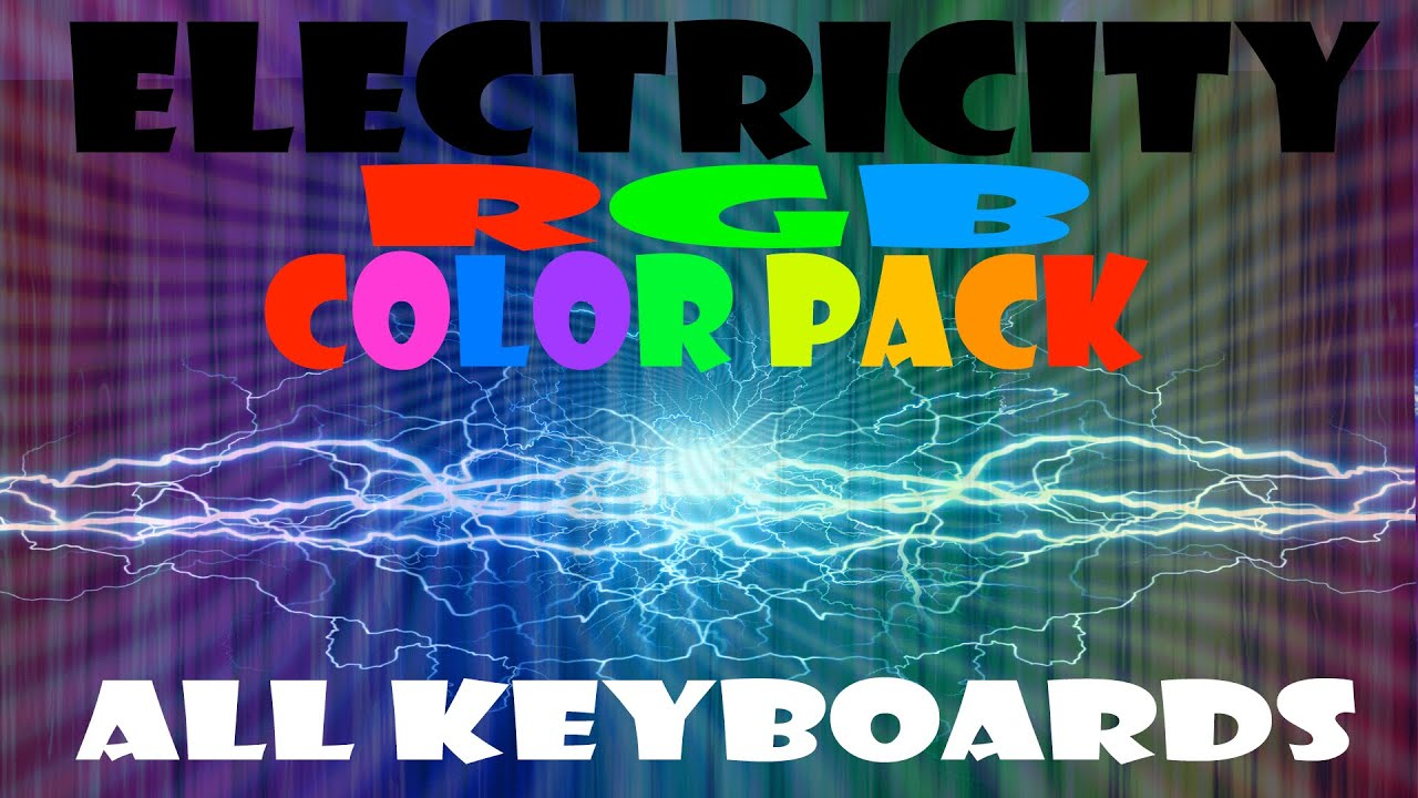 Electricity Corsair RGB Profile Color Pack - YouTube