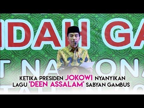Saat Presiden Jokowi Nyanyikan Lagu Deen Assalam Sabyan Gambus