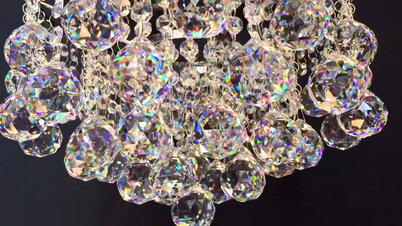 Led crystal ball 30cm chandelier youtube aloadofball Images