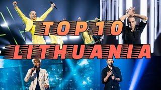 🇱🇹 LITHUANIA EUROVISION TOP 10 (2006-2021)