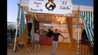 Visita a un Feria local,Manzanilla un pueblito de Huelva,y lo mejor todo en familia....
