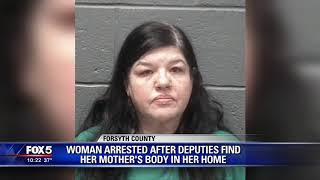 Woman arrested after deputies find mother