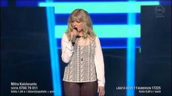 Mitra Kaislaranta - Äkkisyvää @ Idols finaali 2013 live
