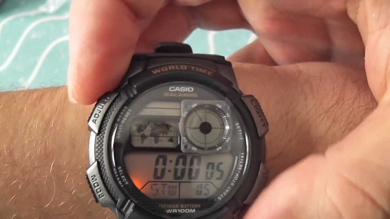2a11fe3396bf6 CASIO AE-1000W-1AV watch - YouTube