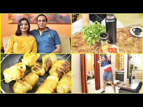 Indian Mom Breakfast & Evening Snacks Routine - My Private Live Concert, Easy Potato Snack