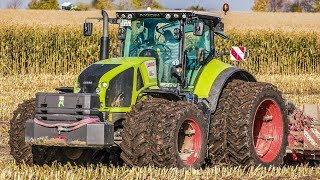 CHALLENGER & CLAAS Axion Tractor | Tillage with HORSCH equipment