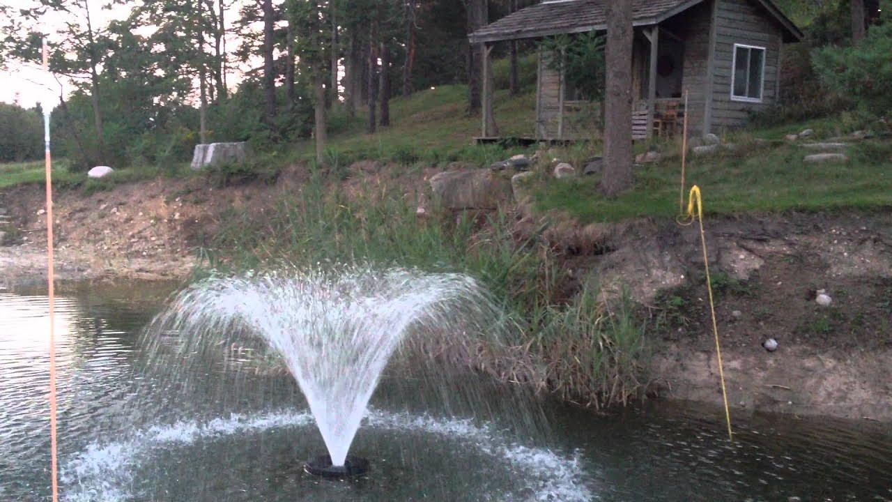 Pond floating water fountain - YouTube
