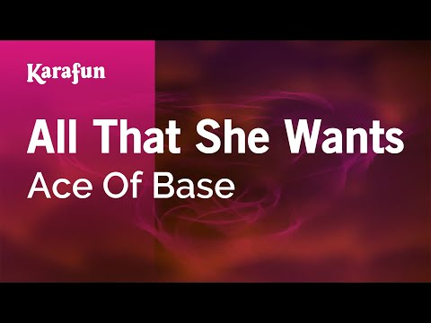 Karaoke All That She Wants - Ace Of Base *