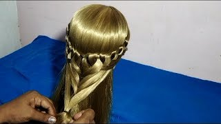 cute hairstyle for girls Heart hairstyle for medium long hair