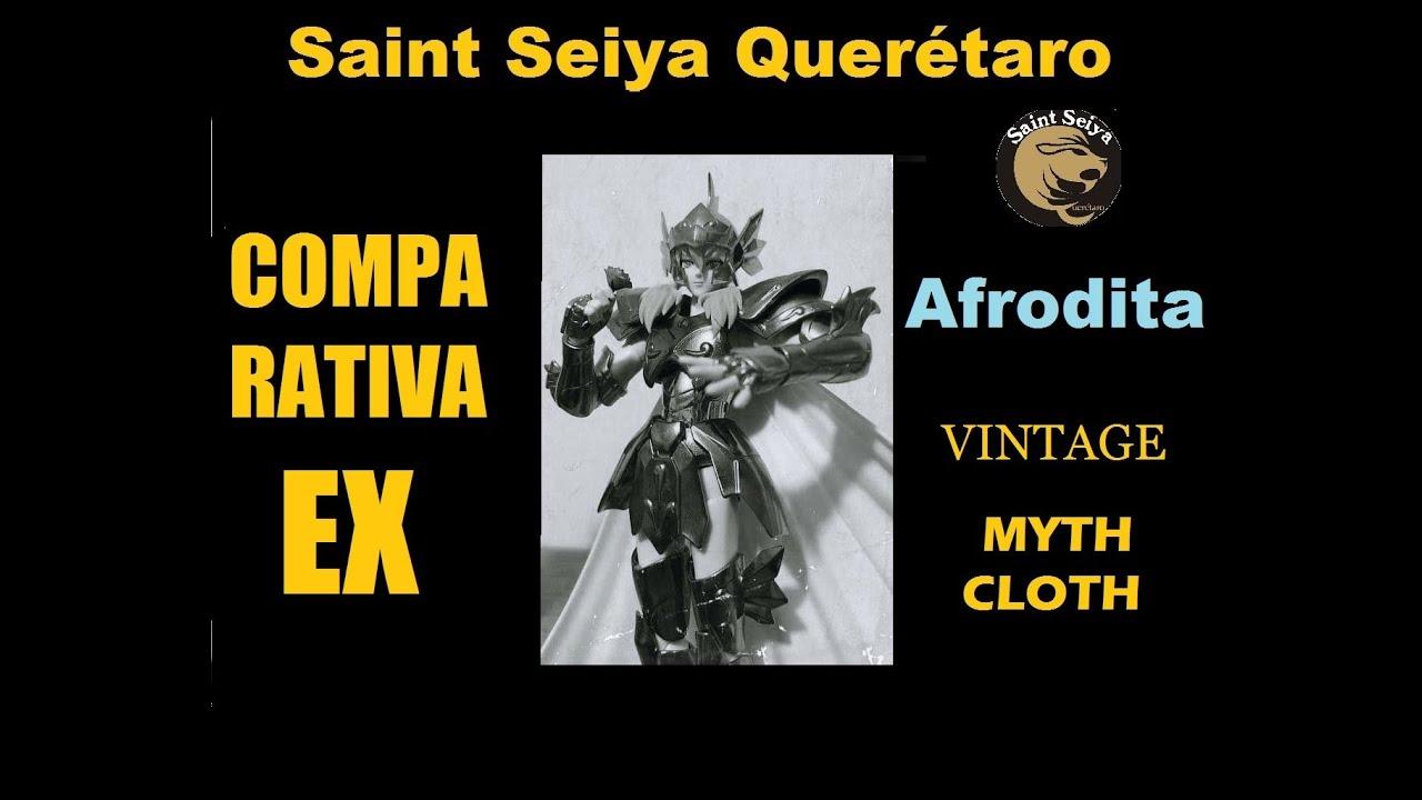 Comparativa Afrodita de Piscis Vintage, Myth Cloth Clasico y EX por Diego y Raúl Callejas  Saint Se