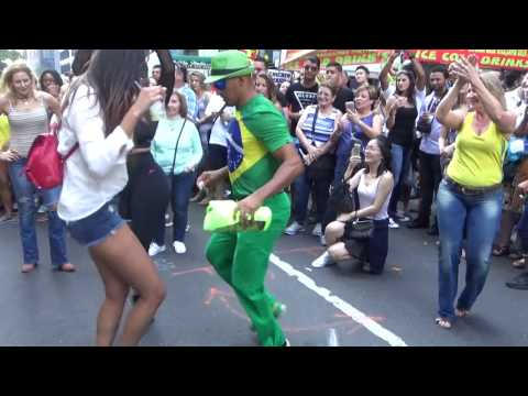 BRAZILIAN WOMENS DANCE STREET SAMBA PUNTA DANCES AT BRAZIL DAY NEW YORK 2016 NYC