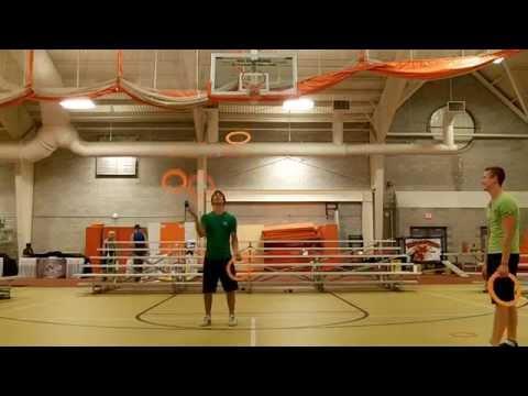 4 ring Pancake juggling - Doug Sayers vs Dominik Harant