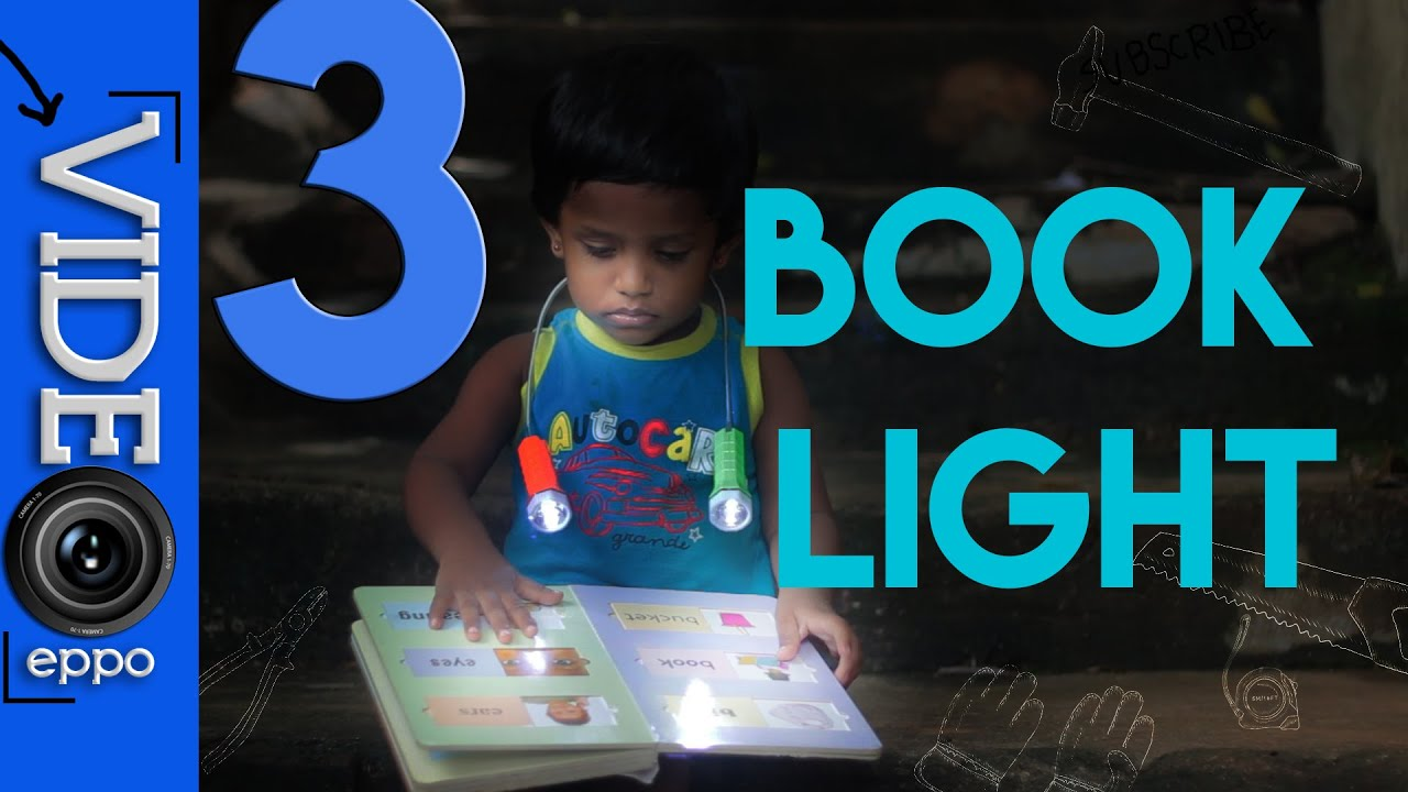 3 book lights made easy youtube
