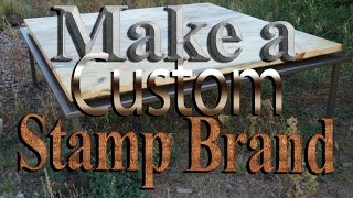 Stamp Brand Your Woodwork