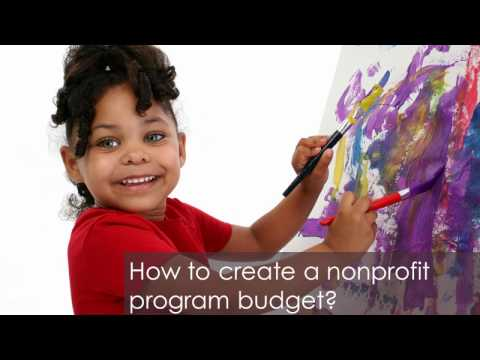 How to create a nonprofit program budget?