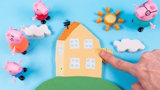 DIY How to Make Kinetic Sand Peppa Pig House Learn Colors for Kids