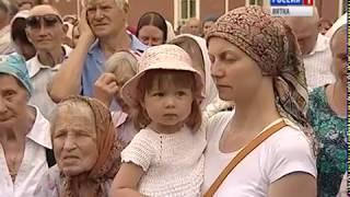 В Кирове состоялось официальное открытие памятника Царской семье(ГТРК Вятка)