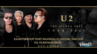 U2 geeft extra show op 30 juli 2017