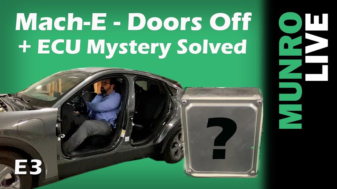 Mach-E Teardown: Doors Off + ECU Mystery Solved