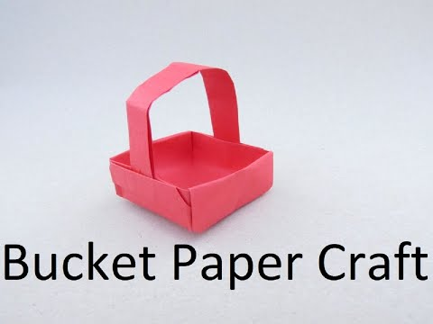Mini Bucket Craft | How to & Origami Tutorial | Cindy DIY