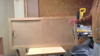 How To Make A Sliding Cabinet Faceplate And Door