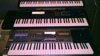 Synth-pop - Korg Microstation / Roland Juno Gi / Casio XW-P1