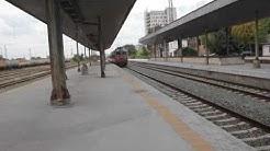 Пристигане на бързия влак от София за Варна и Бургас на гара Стара Загора