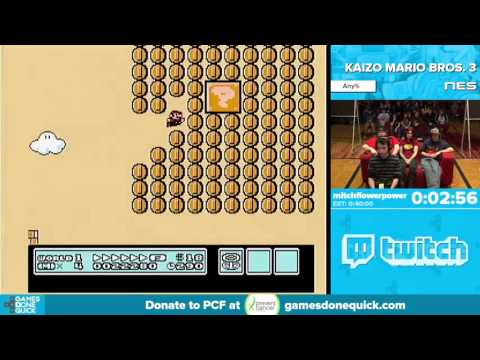 Kaizo Mario Bros. 3 by mitchflowerpower in 34:29 - Awesome Games Done Quick 2016 - Part 82