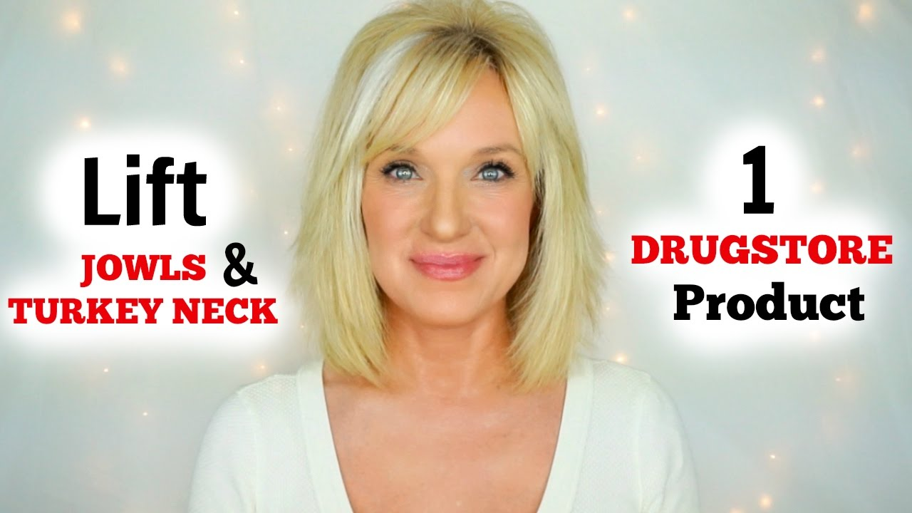 lift jowls & turkey neck! 1 drugstore product! under $15