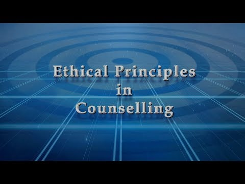 Ethical Principles In Counselling
