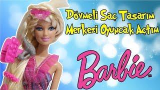 Barbie ile Kuaförcülük Oynuyorum!! Barbie Dövmeli Saç Yapma Seti Oyuncak Tanıtımı!! Bidünya Oyuncak