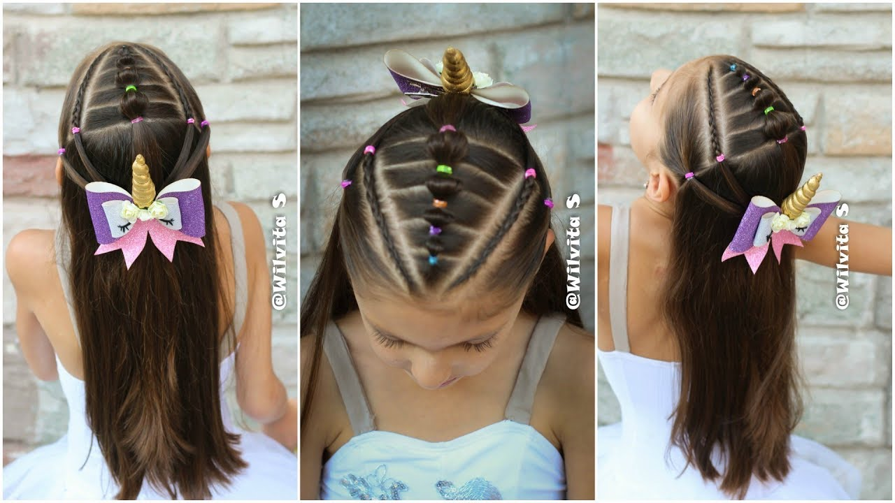 Peinado Facil Y Rapido Para Ninas Con Ligas Y Trenzas Peinados