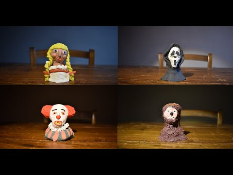 15 Horror Movie Icons - Stop Motion Transformation
