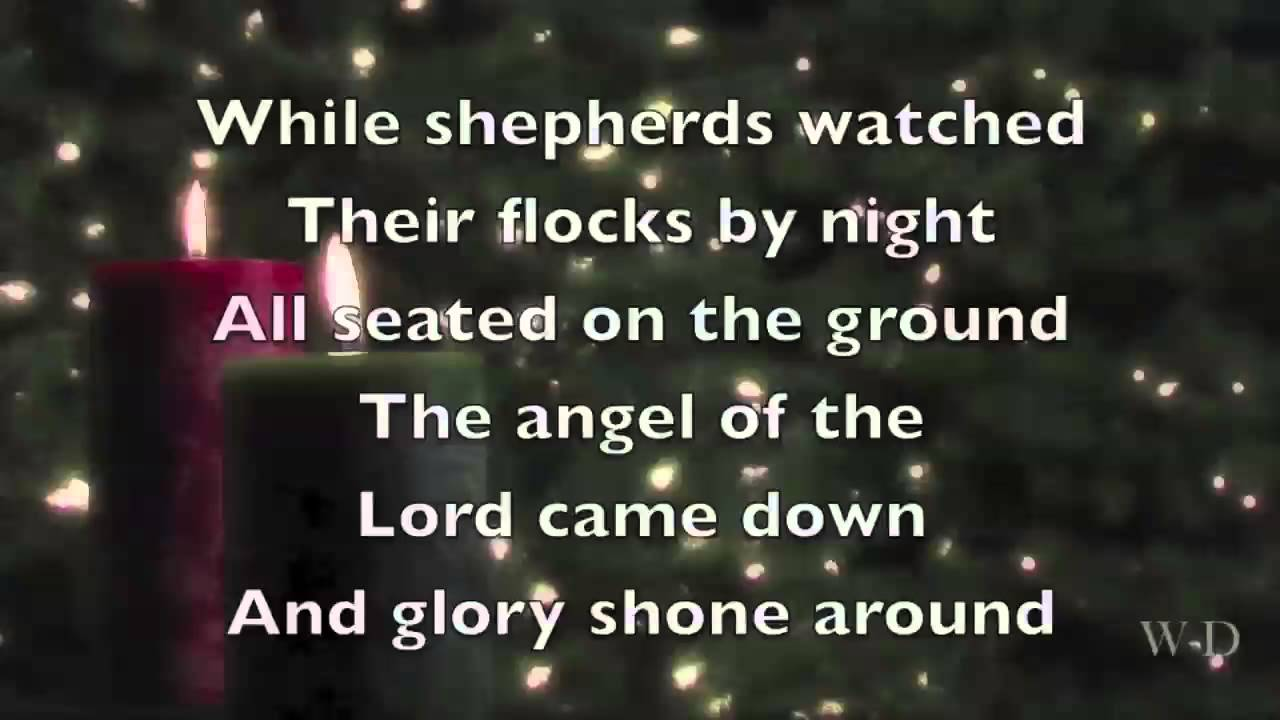 While shepherds watched their flocks by night [music download.