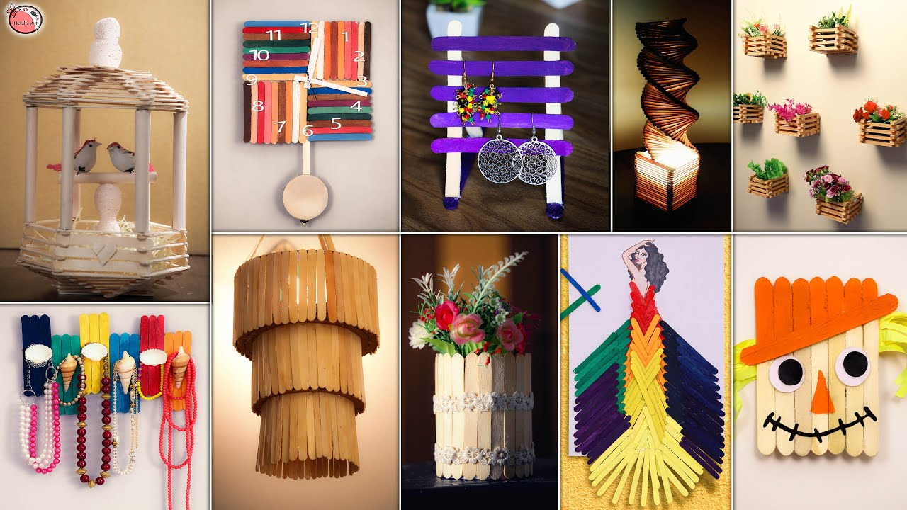 Easy DIY!!.. 11 Candy Stick Craft Idea || DiY Room Decor Projects