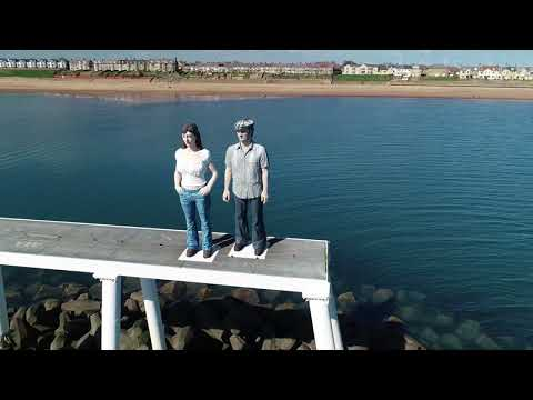 """The """"Couple Sculpture"""" Newbiggin-by-the-Sea Northumberland"""