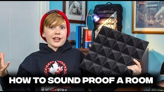 How to sound proof a room using acoustic foam panels, do they improve the sound quality of a room?
