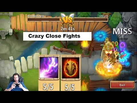 Really Close SICK Arena Fights Top 50 Skull Knight OWNING Castle Clash